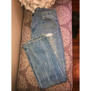 Men's American Eagle bootcut distressed jeans